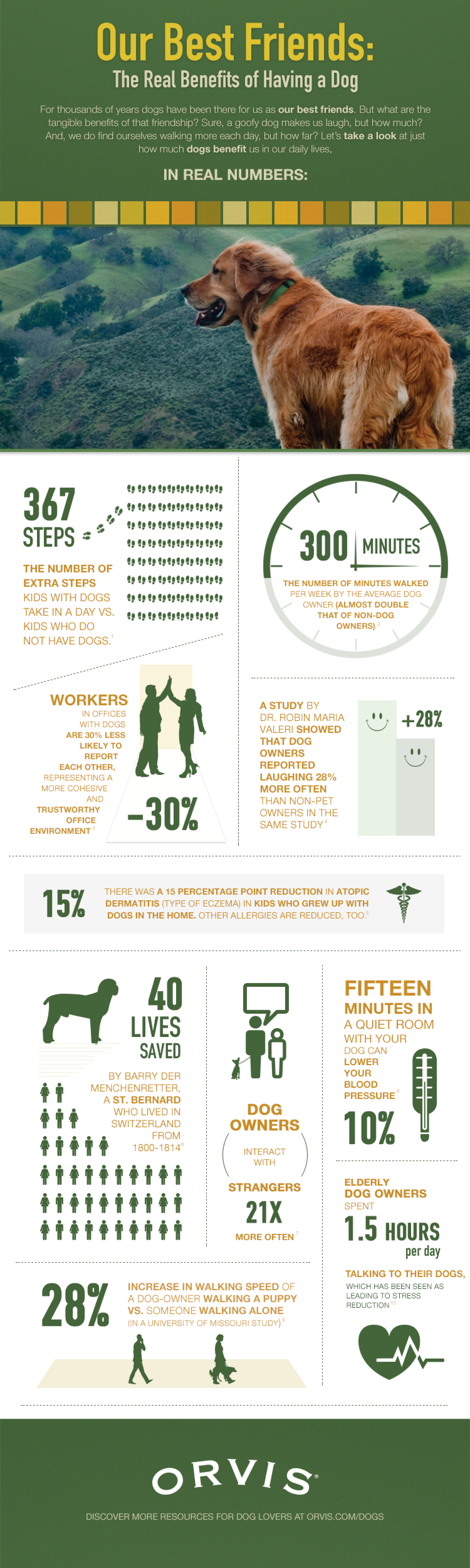 The Real Benefits of Dog Ownership Infographic
