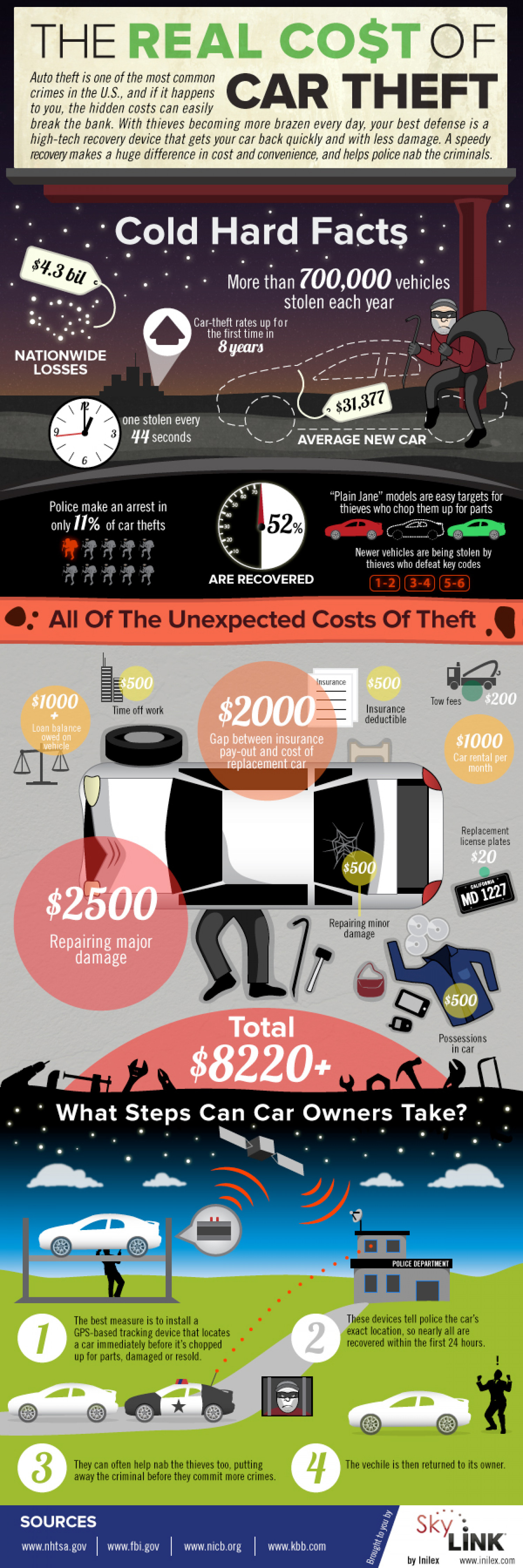 The Real Cost of Auto Theft Infographic