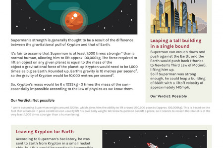 The Real-World Physics of Superman Infographic