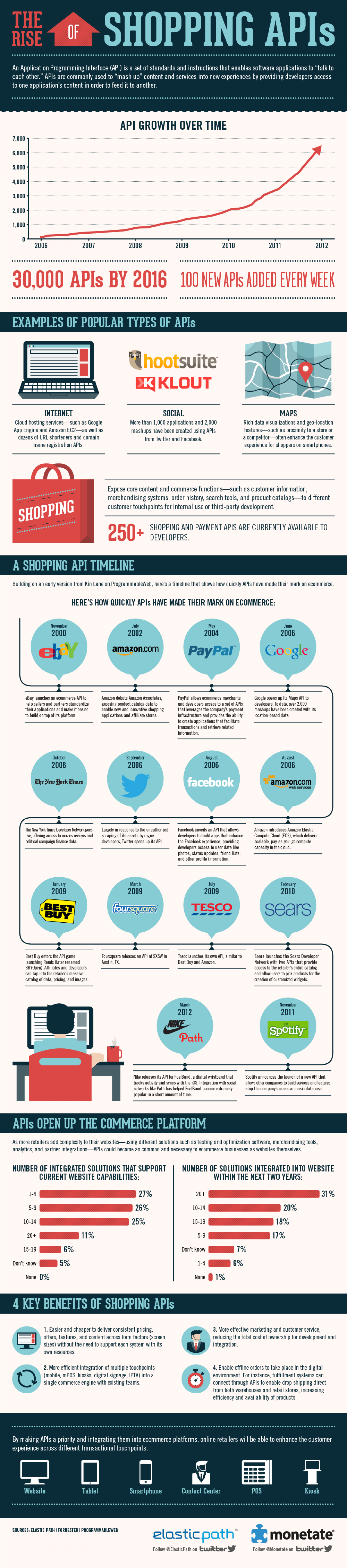 The Rise Of Shopping APIs Infographic
