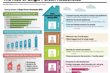 The Rise of Single Person Households Infographic