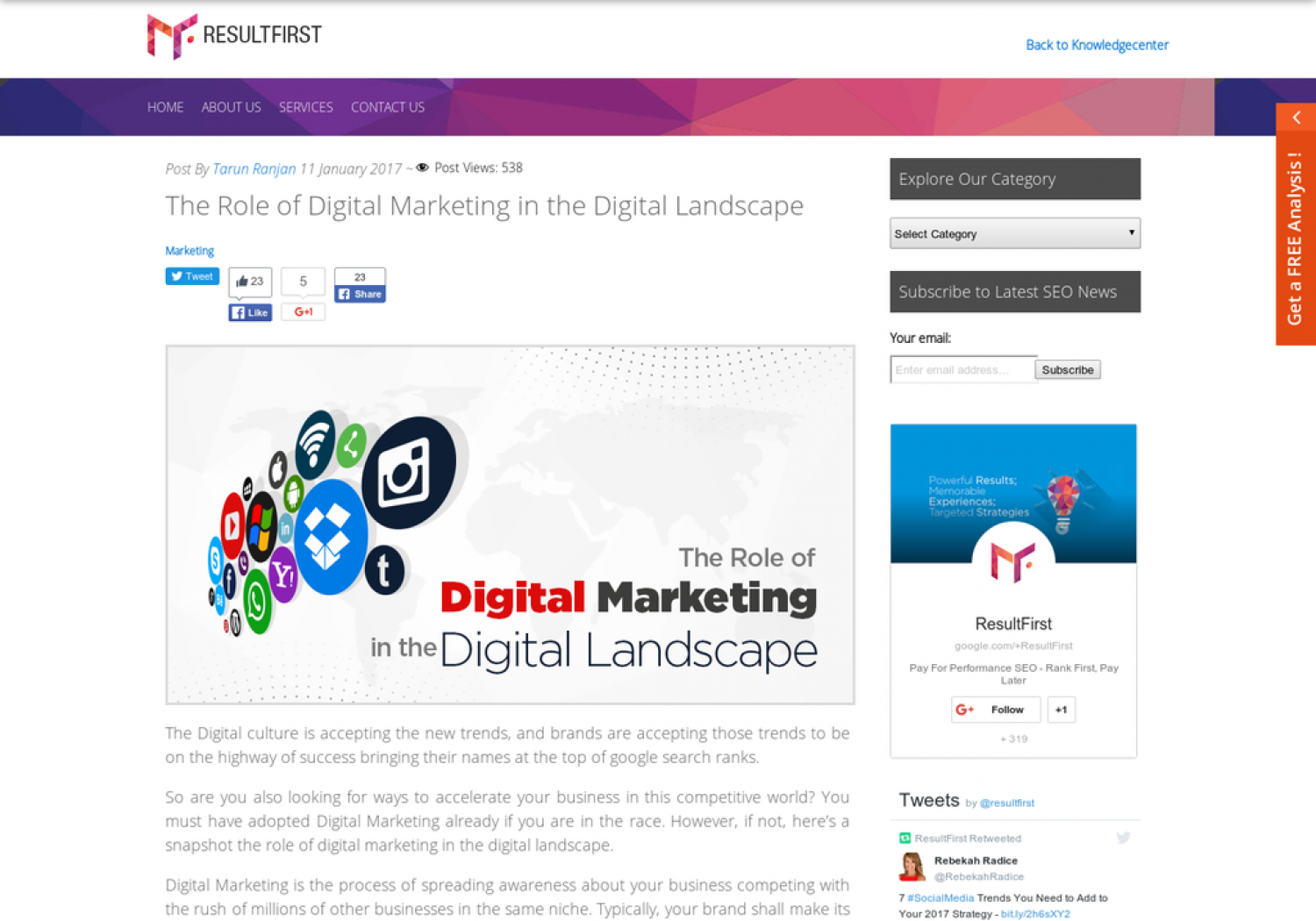 The Role of Digital Marketing in the Digital Landscape Infographic