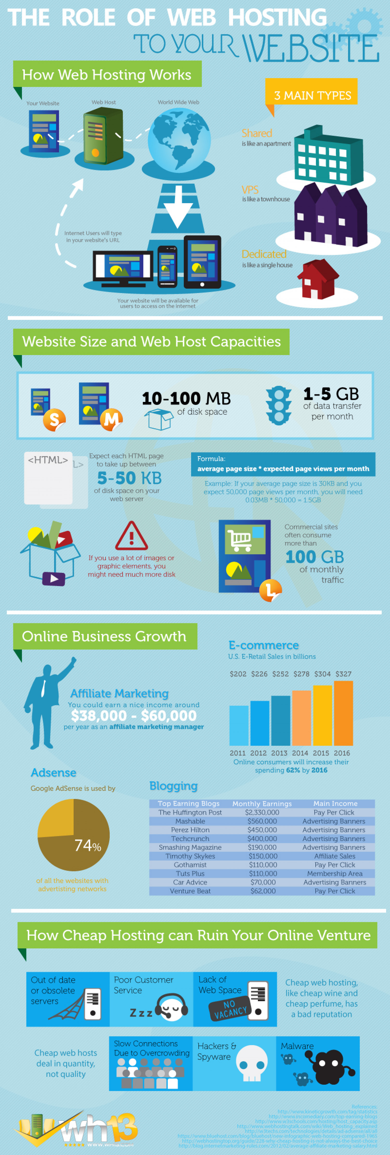 The Role of Web Hosting to Your Website Infographic