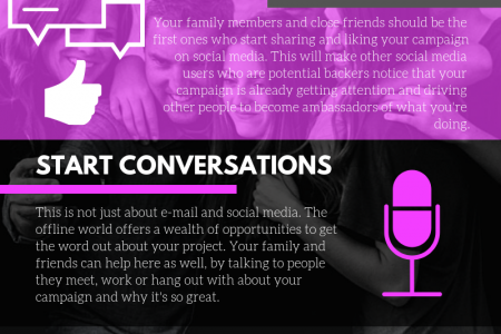 The Role of Your Family and Friends in Crowdfunding Infographic