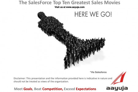 The SalesForce Top Ten Greatest Sales Movies Infographic