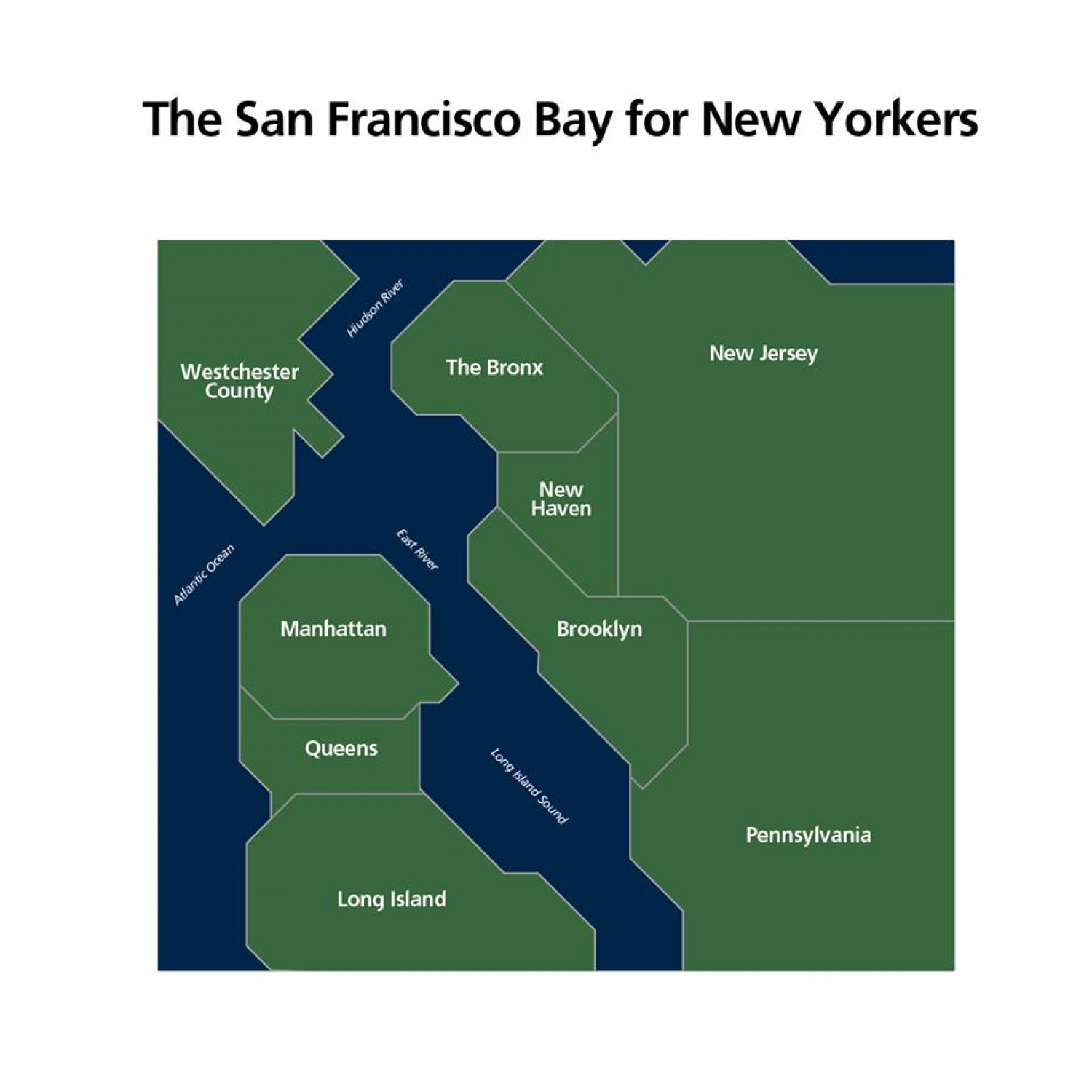 The San Francisco Bay for New Yorkers Infographic