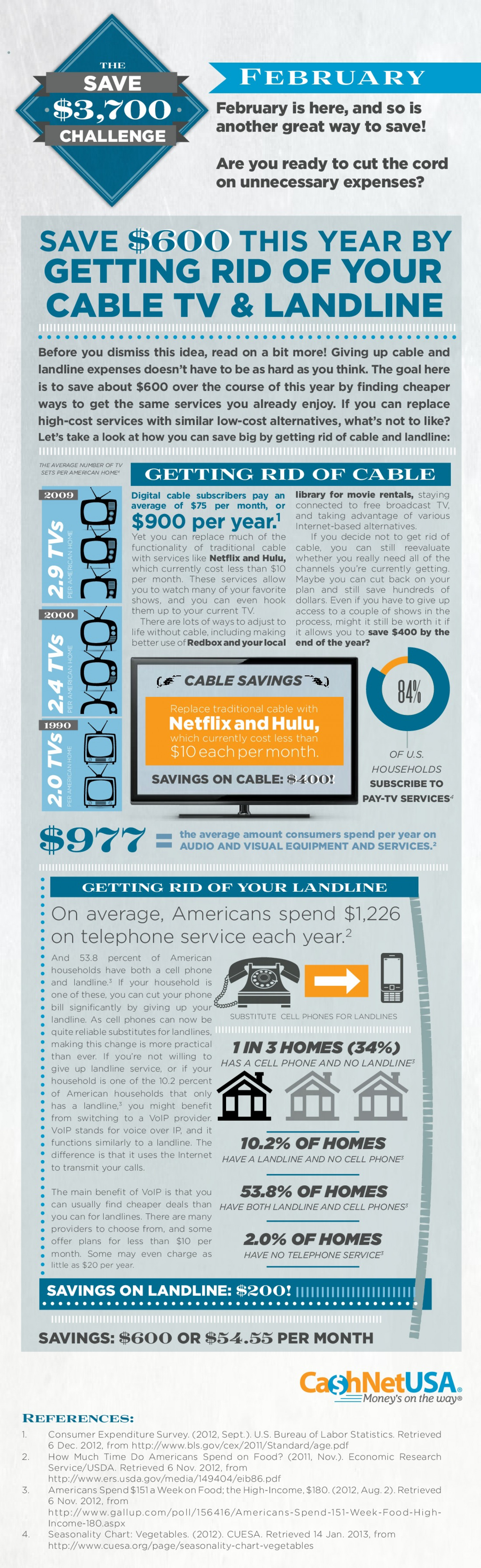 The Save $3,700 Challenge - February Infographic