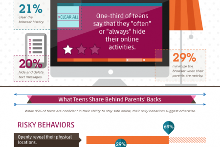 The Secret Life of the Online Teenager Infographic