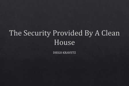 The Security Provided By A Clean House Infographic
