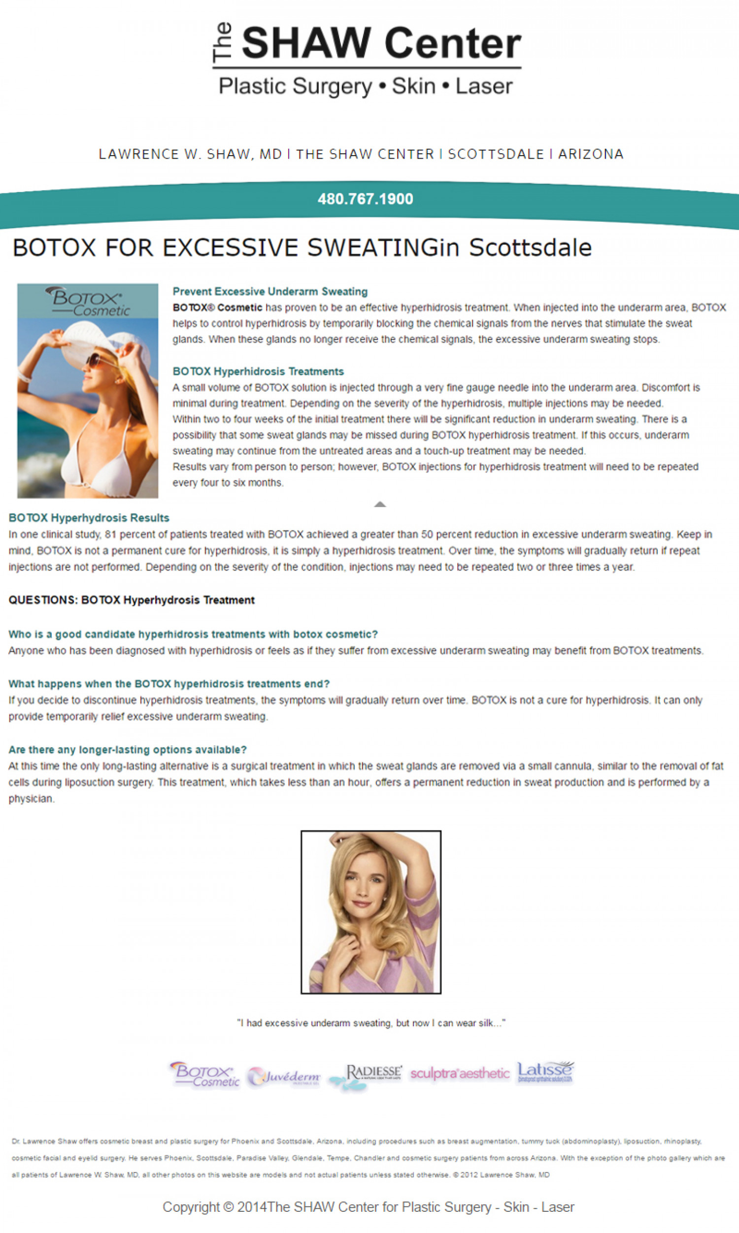 The SHAW Center for Plastic Surgery Infographic