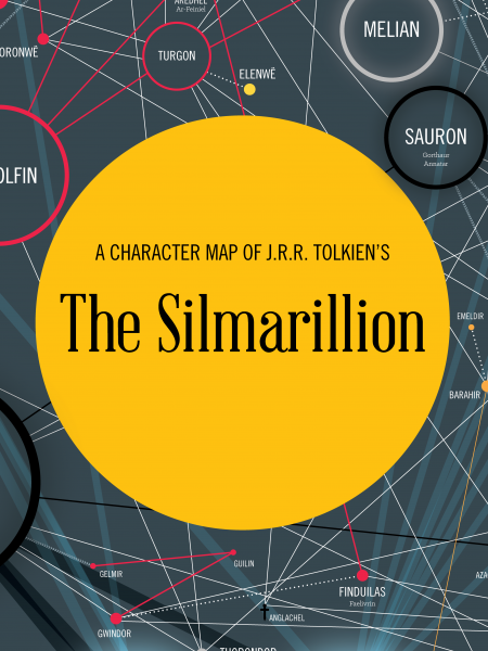 Tolkien's The SIlmarillion Character Map Infographic