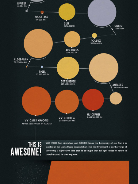 The Size of Milky Way Stars Infographic