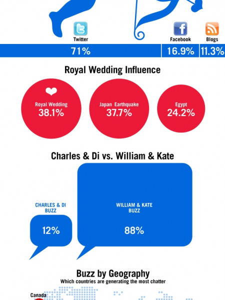 The Social Media Buzz Behind the Royal Wedding  Infographic