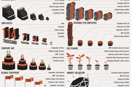 The Social Network vs The Advertising Network Infographic
