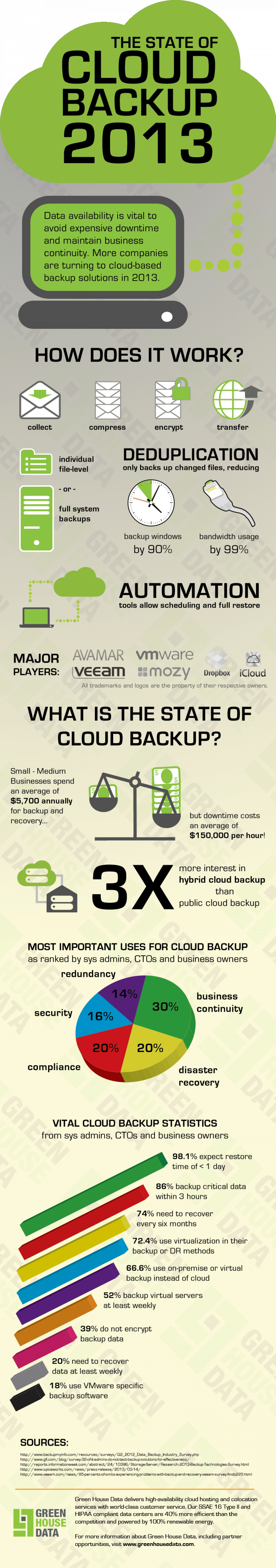 The State of Cloud Backup 2013 Infographic