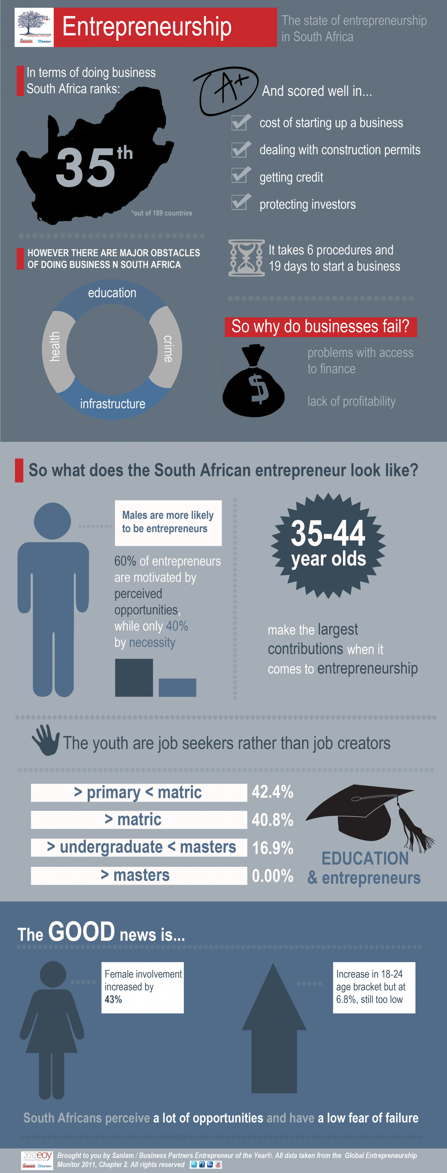 The State of Entrepreneurship in South Africa Infographic