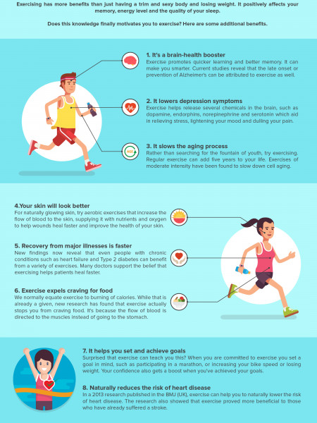 The Suprising Benefits of Exercise Infographic