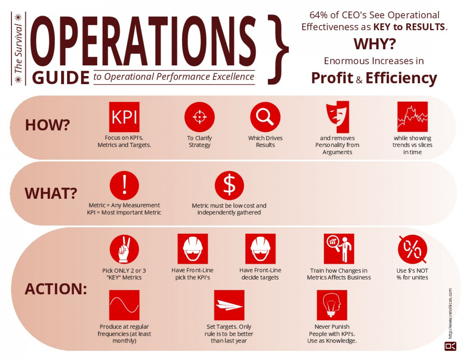The Survival Guide to Operational Performance Excellence Infographic