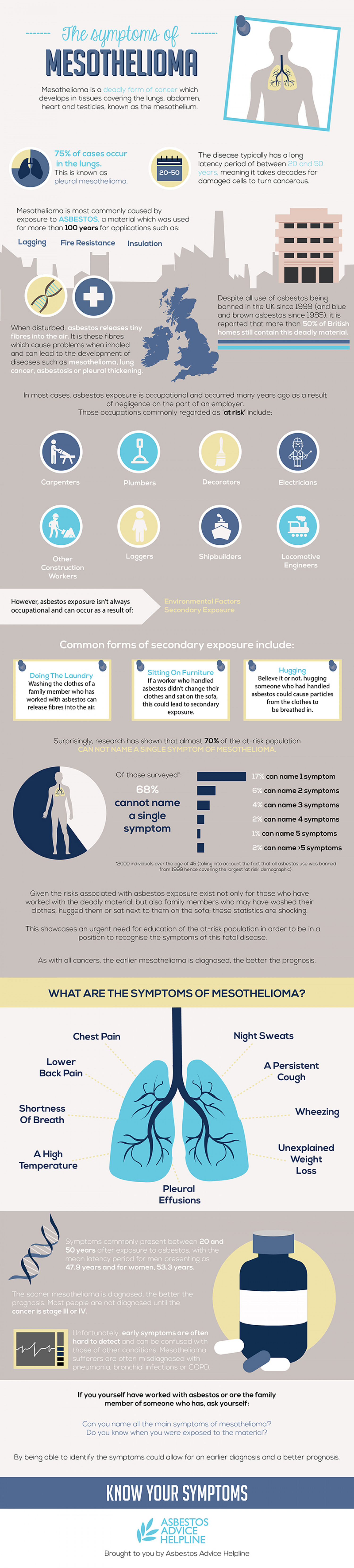 The Symptoms Of Mesothelioma Infographic