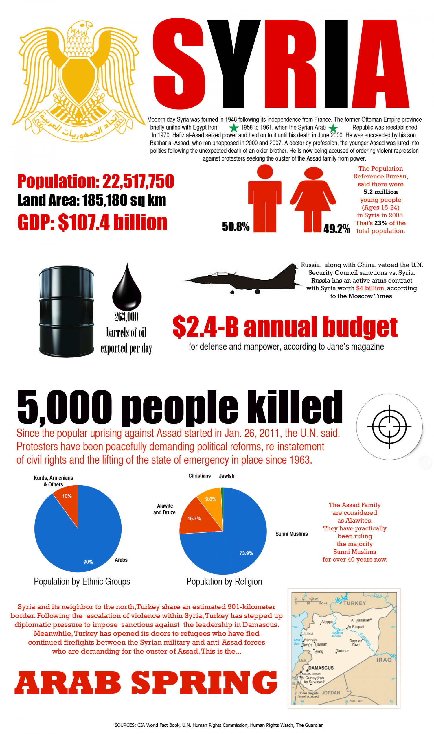 The Syrian Uprising Infographic