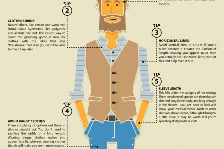 The Tall Guy's Guide to Buying Big Clothes Infographic