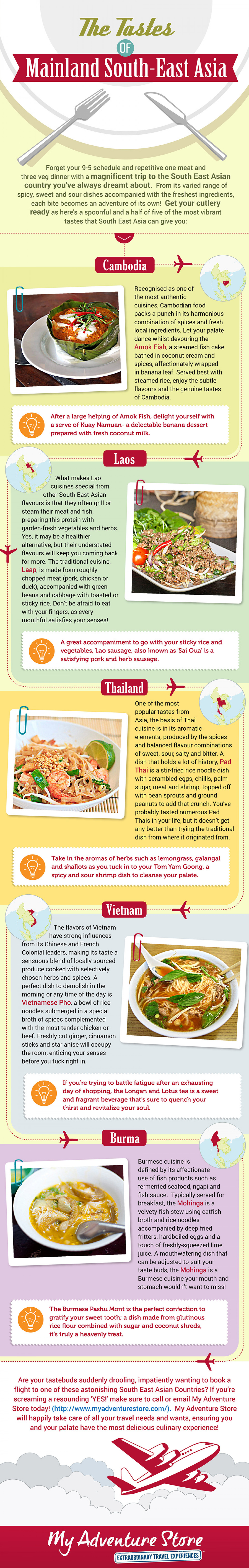 The Tastes of Mainland South East Asia Infographic