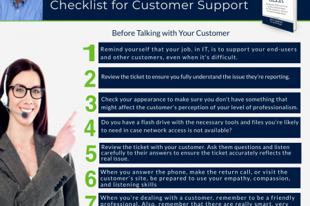 The Technician's 7-Step Checklist for Customer Support Infographic