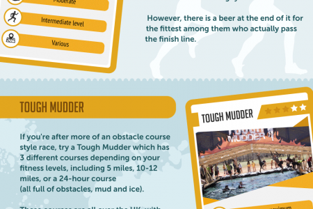 The Top 15 Toughest Fitness Challenges Infographic