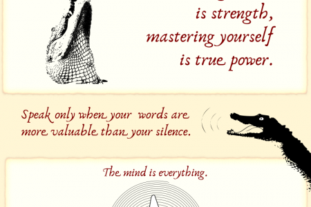 The Top 5 Five Zen Crocodile Quotes Infographic