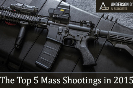 The Top 5 Mass Shootings in 2015 Infographic