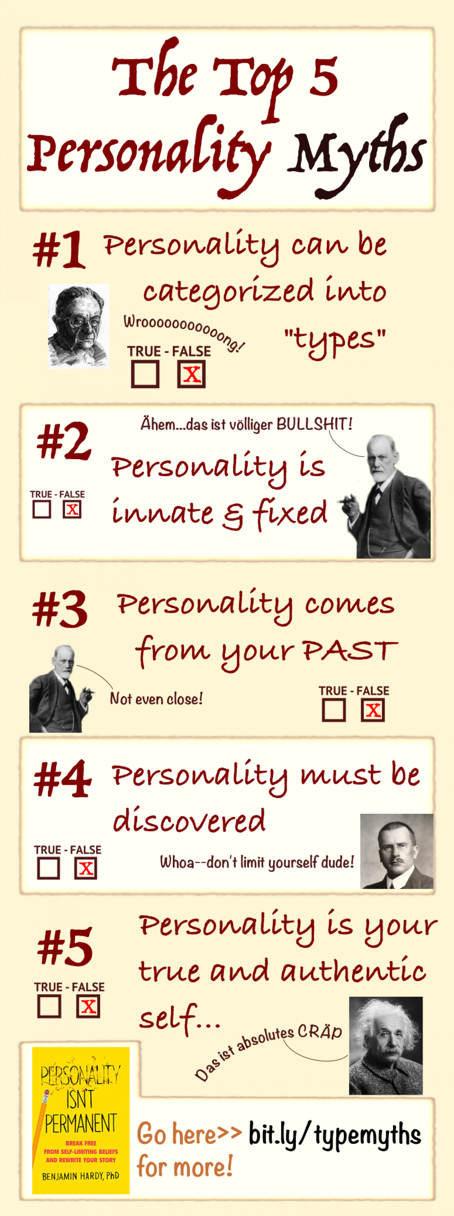 The Top 5 Personality Myths Infographic