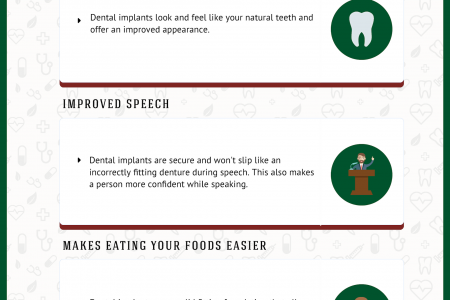 The Top 8 Advantages of Dental Implants Infographic
