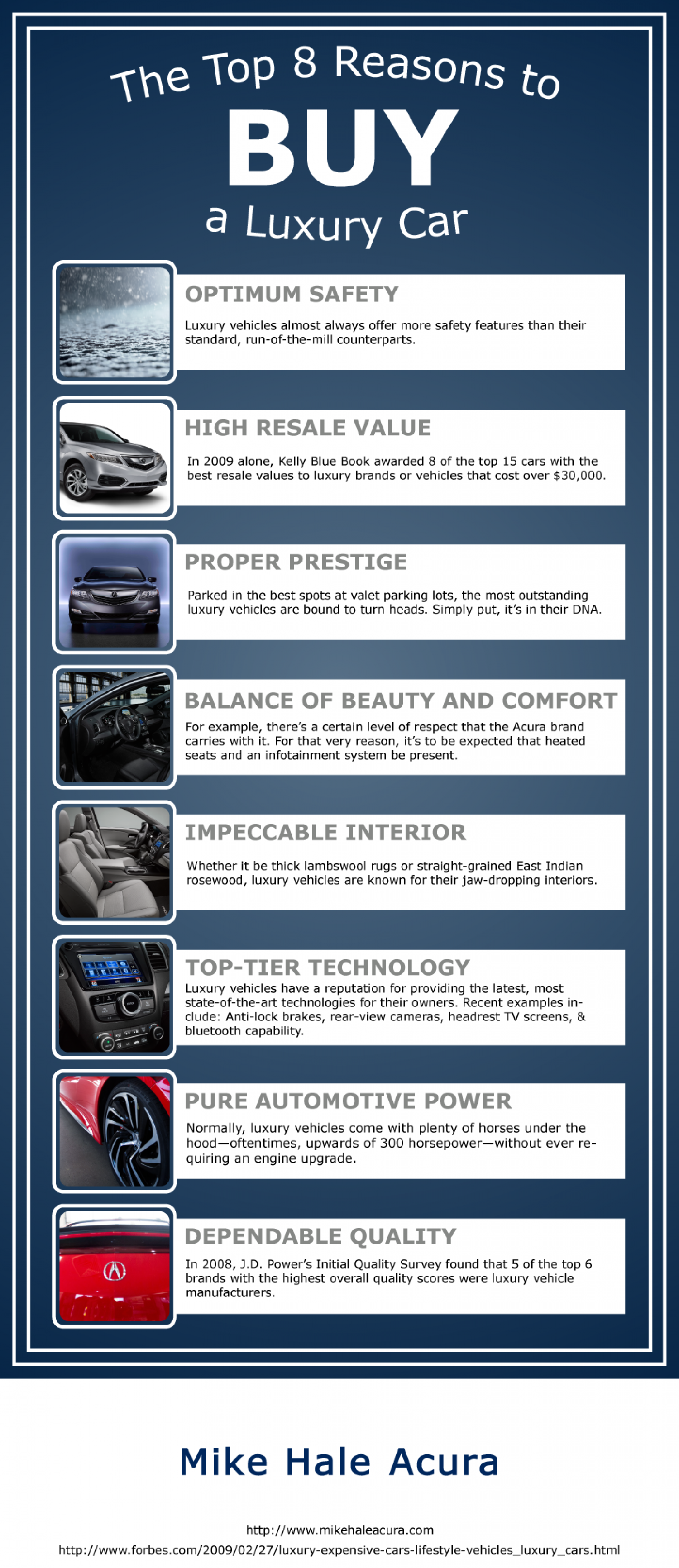 The Top 8 Reasons to Buy a Luxury Car Infographic