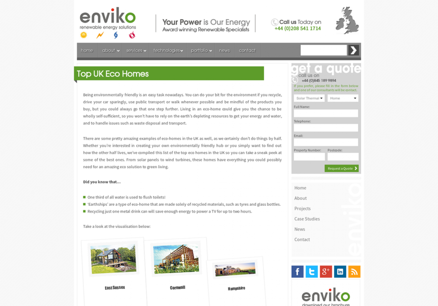 The Top UK Eco Homes Infographic