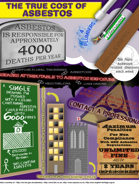 The True Cost of Asbestos Infographic