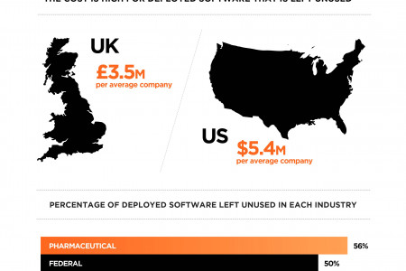 The True Cost of Unused Software in Business Infographic