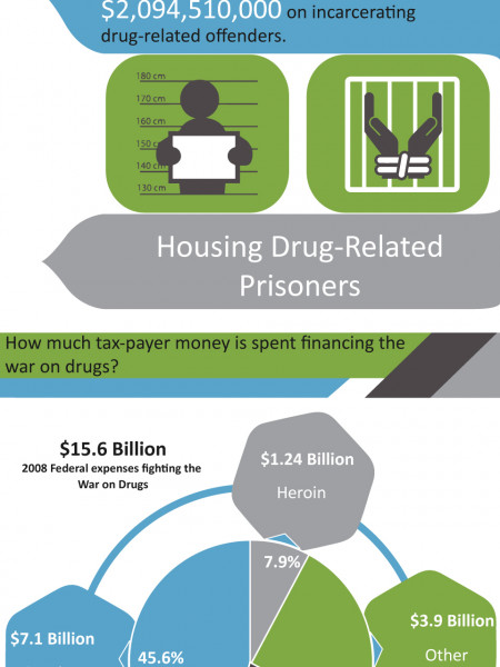The True Cost of War on Drugs | Alcohol Addiction Recovery Place			 Infographic