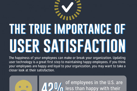 The True Importance of User Satisfaction Infographic