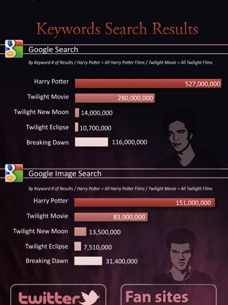 The Twilight Saga on the Net Infographic