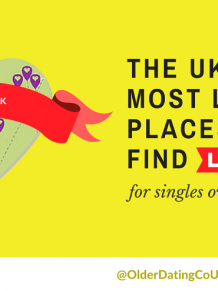 The UK's Best (and Worst) Areas for Senior Dating - The Top 25 Most Likely Places to Find Love Infographic