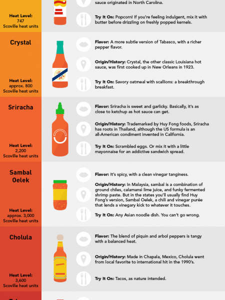 The Ultimate Guide to Your Favorite Hot Sauces Infographic