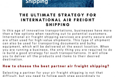 The Ultimate Strategy For International Air Freight Shipping Infographic