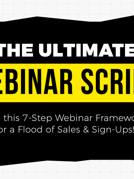 The Ultimate Webinar Script Infographic