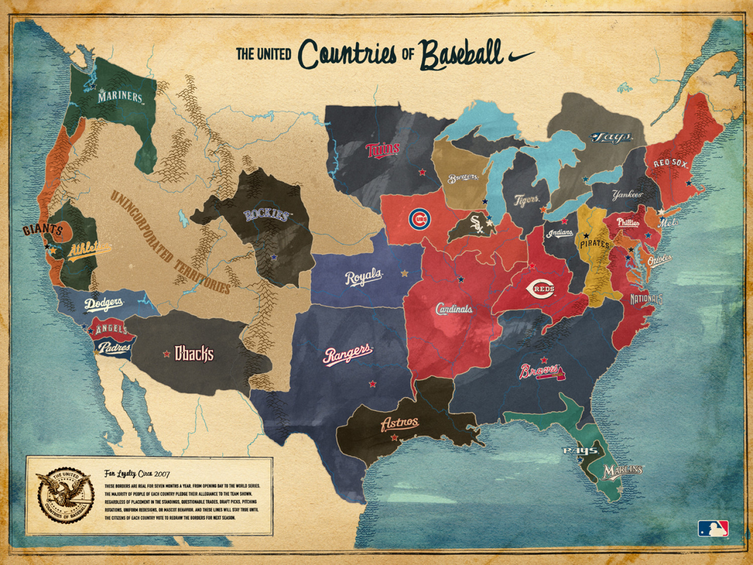The United Countries of Baseball Infographic