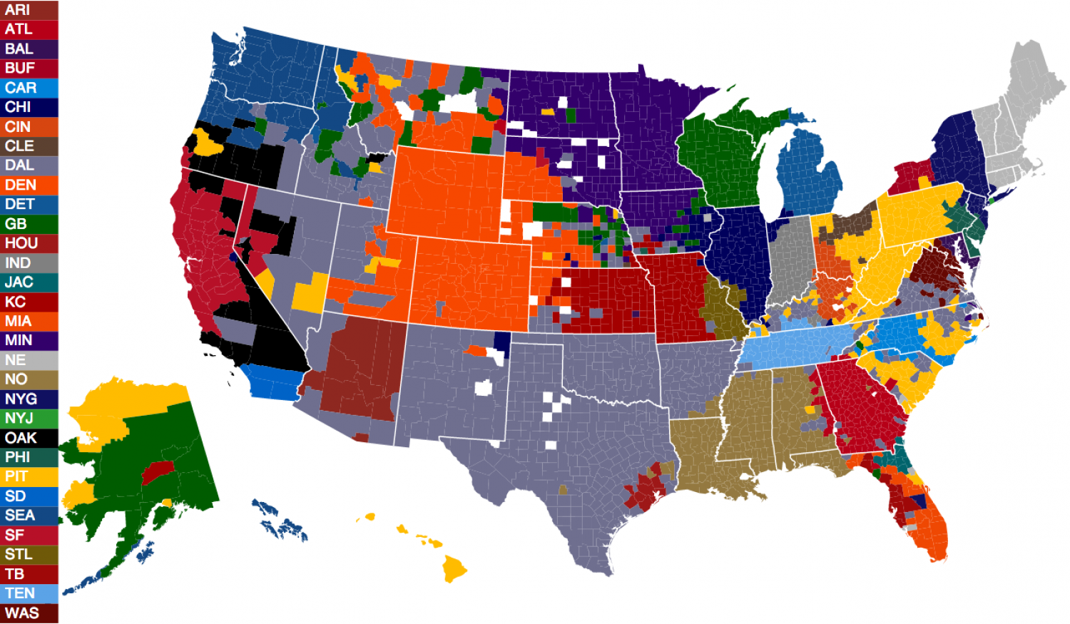 The United States of Football Infographic