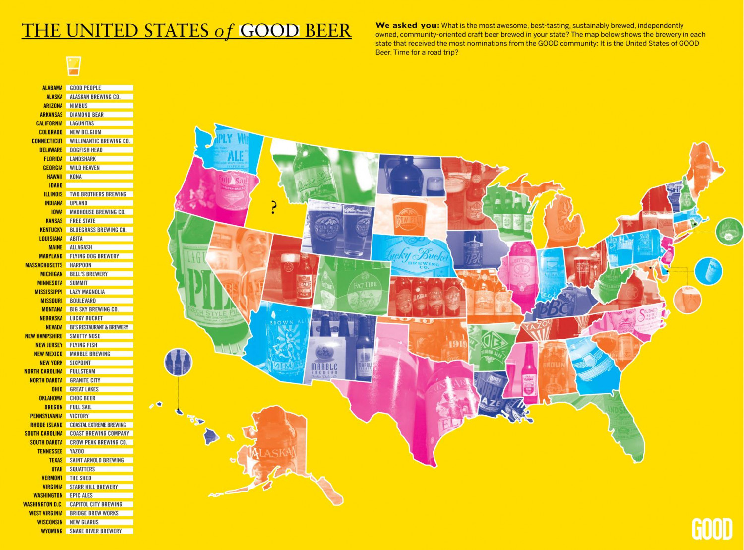 The United States of Good Beer  Infographic