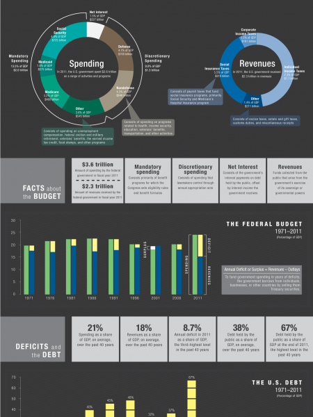 The U.S. Federal Budget  Infographic
