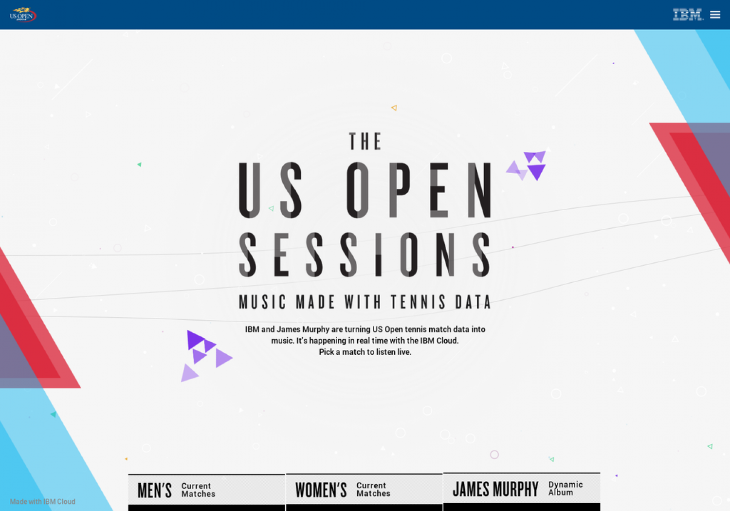 The US Open Sessions: Music Made With Tennis Data Infographic