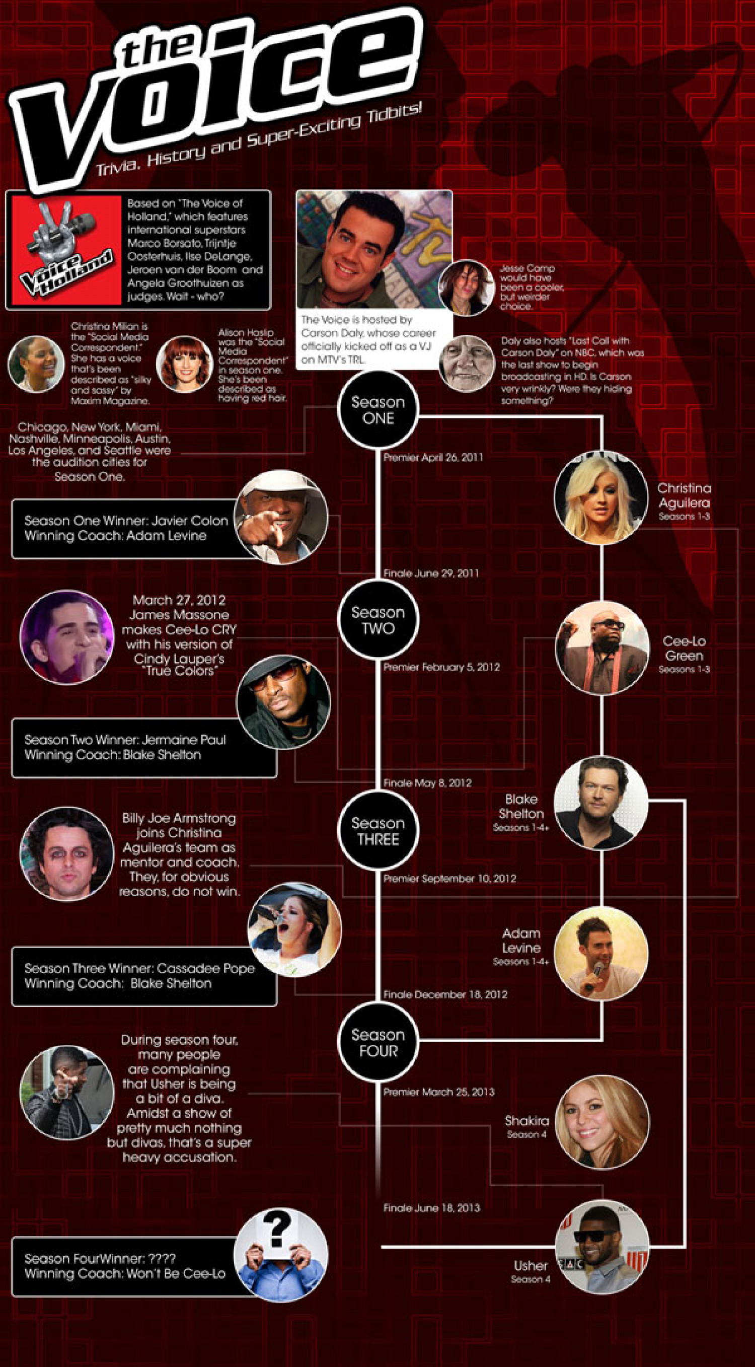 The Voice Television Show Infographic