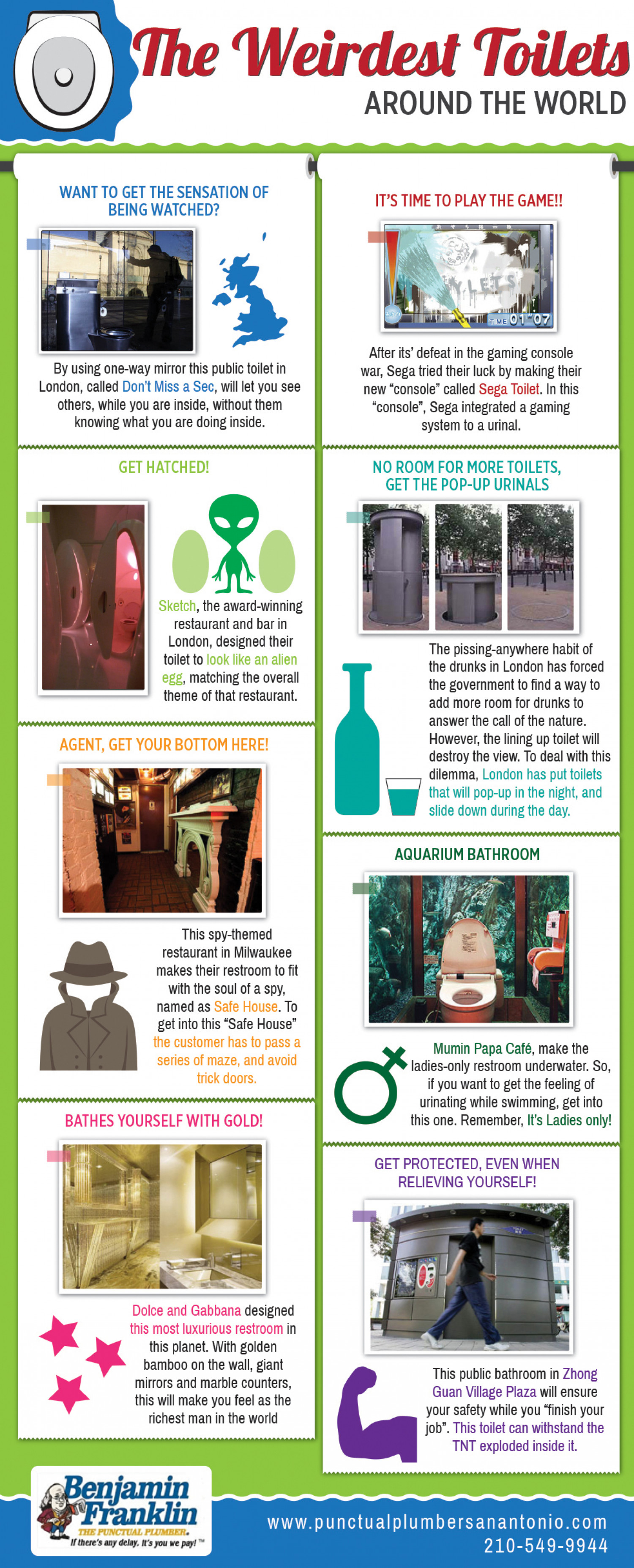 The Weirdest Toilets Around the World Infographic